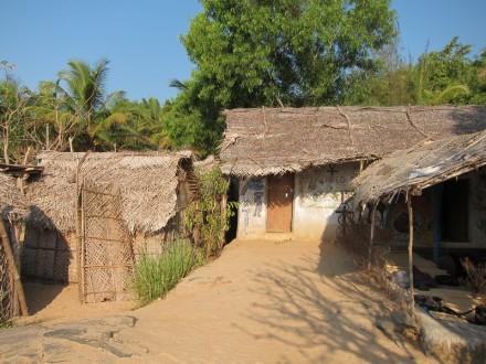 huts, Om beach, Gokarna