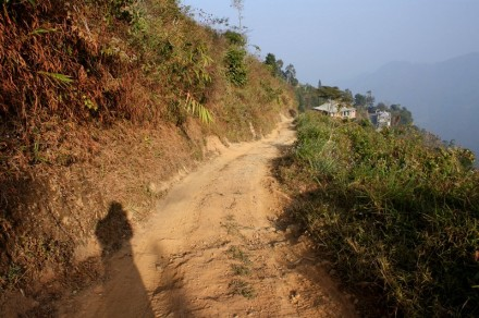 Dirt road leading to MPRO office, Durtlang, Aizawl