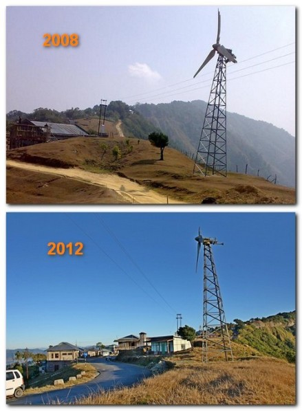 hmuifang windmill, before and after