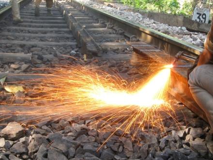 sparks, welding torch