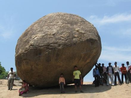 Krishna's Butterball, Mahabalipuram, India