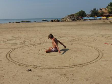 kudle beach, gokarna, karnataka,india
