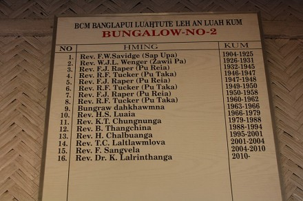 Incumbency list of the former quarter of Sap Upa