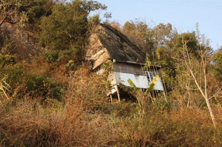 A tiny house on the cliff, Durtlang, Mizoram