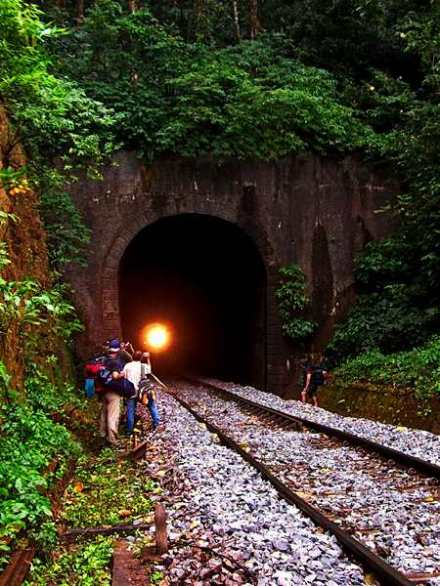light at the end of the tunnel,Sakleshpur,  Karnataka, tunnel, light, train