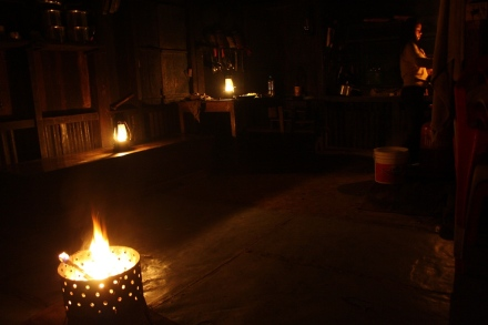 Power cut was the order of the day and night at Sangau