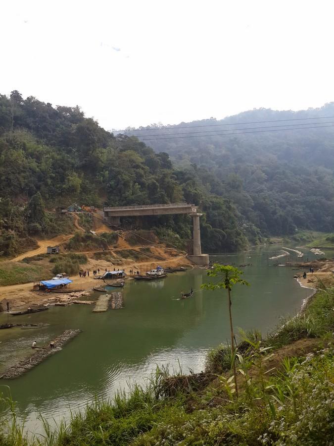 The bridge over the river bank, Bairabi