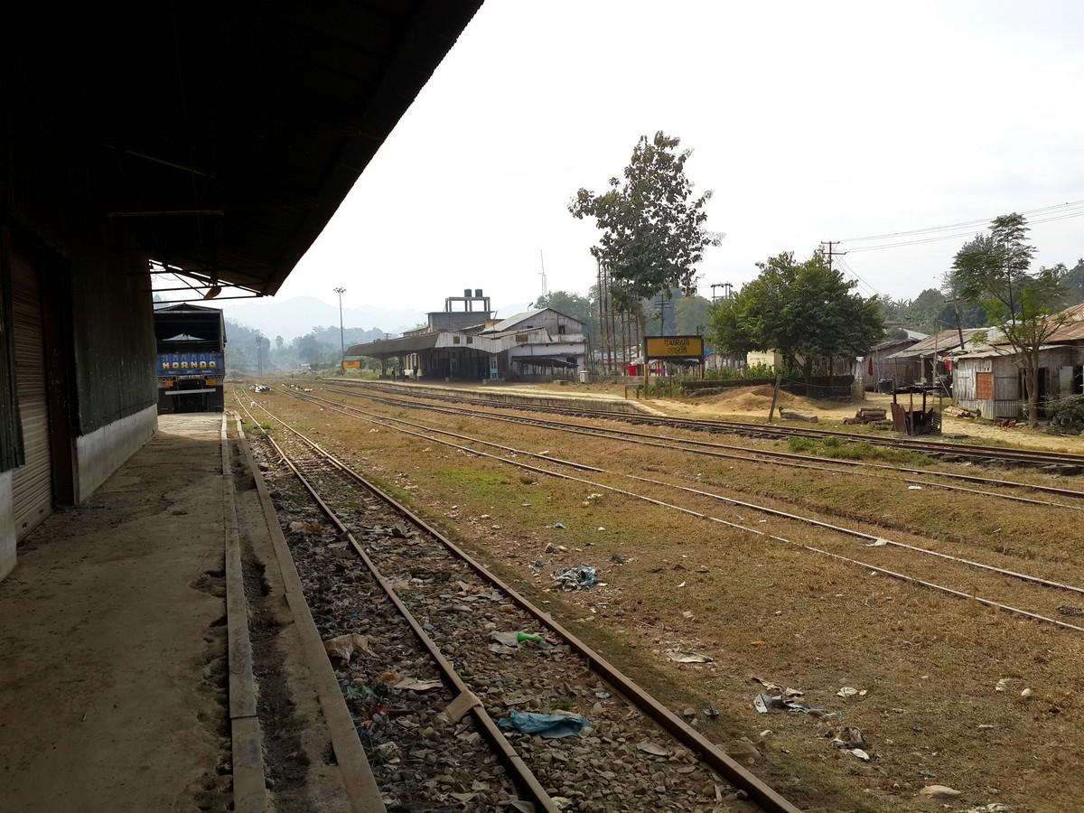 Bairabi, the only train station in Mizoram!
