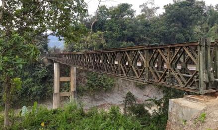 Bailey bridge over Teirei river on Bairabi road, Mizoram