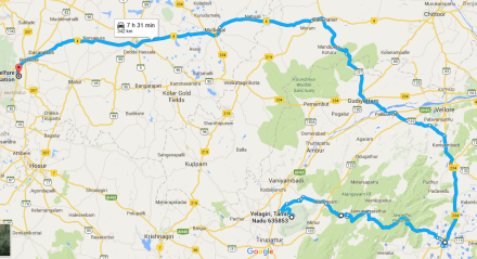 yelagiri-bangalore-route